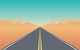 Strada nel deserto Immagine Stock Libera da Diritti