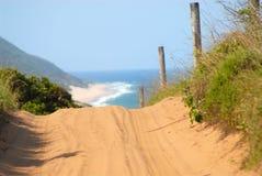 Strada nel Mozambico Fotografia Stock