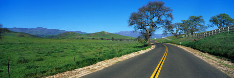 Strada nel Santa Ynez Immagini Stock