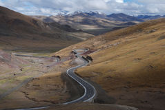 Strada nel Tibet Fotografia Stock