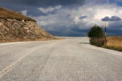 Strada nell'Abruzzo Immagine Stock