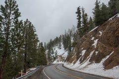 Strada nella cresta NationalForest di Angeles immagini stock libere da diritti