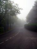 Strada nella nebbia Fotografie Stock Libere da Diritti