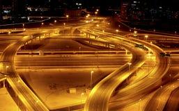 Strada nella notte Immagini Stock