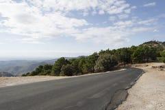 Strada nelle montagne Immagini Stock Libere da Diritti