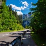 Strada nelle montagne alpi L'Italia Fotografia Stock Libera da Diritti