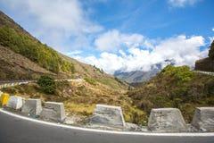 Strada nelle montagne andes venezuela fotografie stock