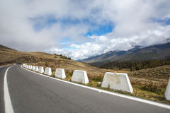 Strada nelle montagne andes venezuela fotografia stock