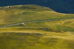 Strada nelle montagne di Bucegi Immagine Stock Libera da Diritti