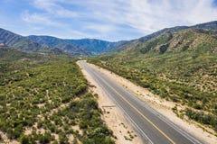 Strada nelle montagne di California Immagini Stock Libere da Diritti