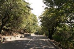 Strada nelle montagne per ciclare fotografie stock