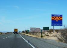 Strada nello stato dell'Arizona Immagini Stock