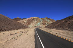 Strada in nessun posto - Death Valley - California Fotografia Stock