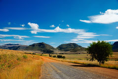 Strada in nessun posto (la Sudafrica) Fotografia Stock