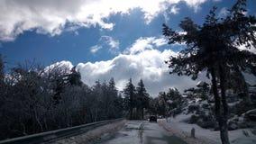 Strada nevicata Fotografia Stock Libera da Diritti