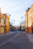 Strada Nicolae Balcescu street in Sibiu, Romania Royalty Free Stock Images