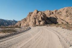 Strada non asfaltata andina Fotografia Stock