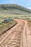 Strada non asfaltata del deserto immagine stock libera da diritti