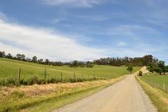 Strada non asfaltata del ` s dell'azienda agricola fotografia stock