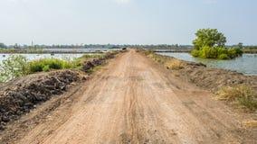 Strada non asfaltata dell'azienda agricola del sale Immagine Stock Libera da Diritti