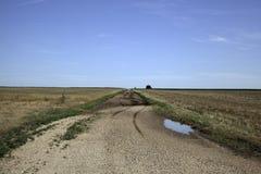 Strada non asfaltata di Oklahoma fotografie stock libere da diritti