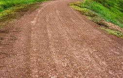 Strada non asfaltata e forza della natura Fotografie Stock Libere da Diritti