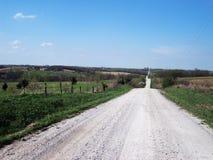 Strada non asfaltata lunga Fotografie Stock Libere da Diritti