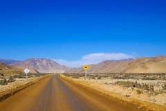 Strada non asfaltata nel Cile Immagine Stock