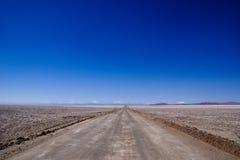 Strada non asfaltata nel Cile Fotografia Stock Libera da Diritti
