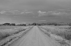 Strada non asfaltata nel paese Fotografia Stock Libera da Diritti