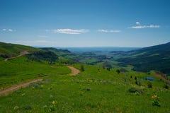Strada non asfaltata nel Wilds del Wyoming Fotografia Stock Libera da Diritti