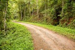 Strada non asfaltata rurale Immagini Stock