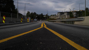 Strada norvegese Fotografie Stock