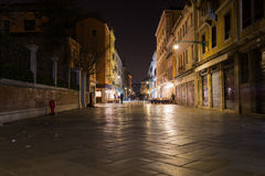 Strada Nuova in Venice at night Royalty Free Stock Photography