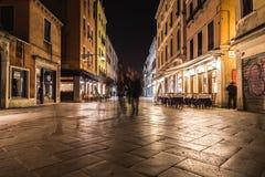 Strada Nuova in Venice at night Stock Image