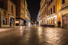 Strada Nuova in Venice at night Royalty Free Stock Images