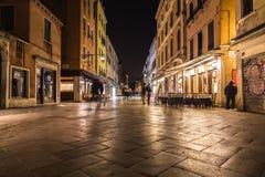 Strada Nuova w Wenecja przy nocą obrazy royalty free