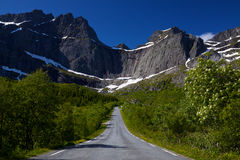 Strada a Nusfjord Immagine Stock Libera da Diritti