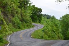 Strada occidentale della montagna di NC immagine stock