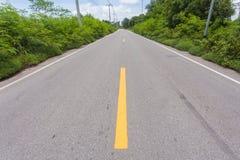 Strada in paese immagine stock