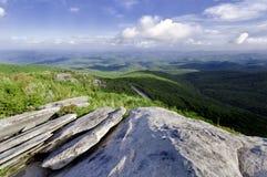 Strada panoramica blu del Ridge immagine stock