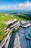 Strada panoramica blu del Ridge Fotografia Stock Libera da Diritti
