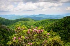 Strada panoramica blu del Ridge Fotografie Stock Libere da Diritti