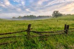 Strada panoramica blu della cresta, North Carolina, estate, scenica Fotografie Stock Libere da Diritti