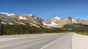 Strada panoramica del Canada Banff Icefield Immagine Stock