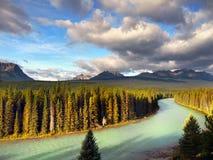 Strada panoramica della valle dell'arco, punto di vista, canadese Montagne Rocciose Immagini Stock