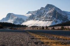 Strada panoramica di Icefields Immagini Stock