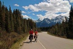 Strada panoramica di Icefields, Alberta, Canada. Immagine Stock Libera da Diritti