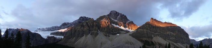 Strada panoramica di Icefields fotografie stock
