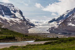 Strada panoramica II di Icefield Fotografia Stock